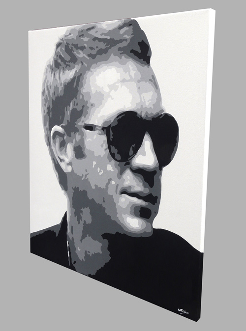STEVE MCQUEEN PORTRAIT ICONIC CANVAS PRINT POP ART READY TO HANG